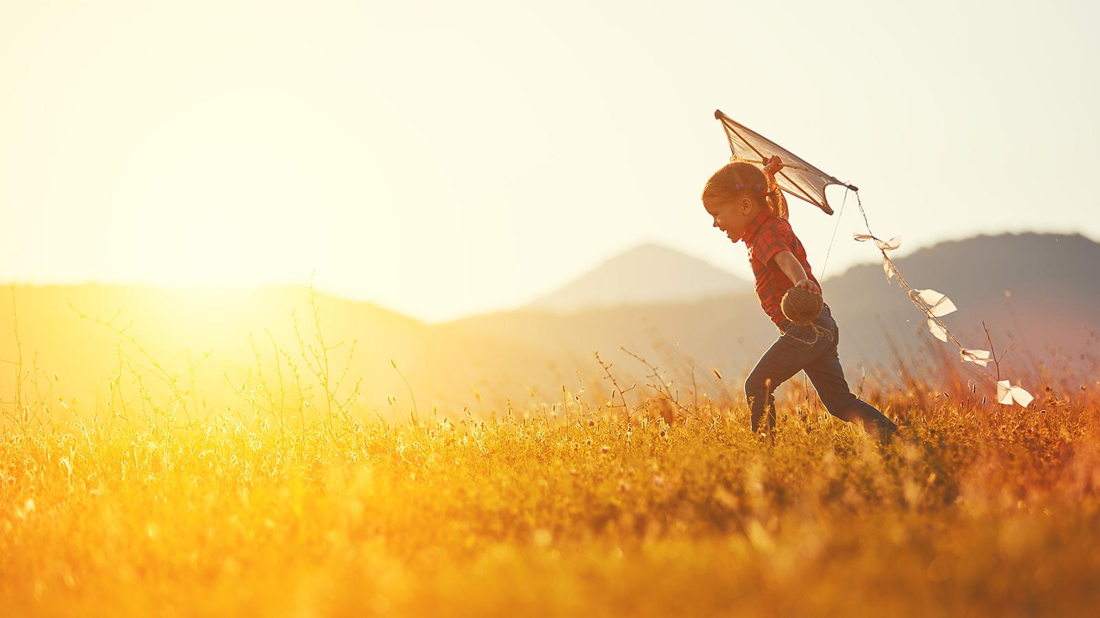 Child with kite